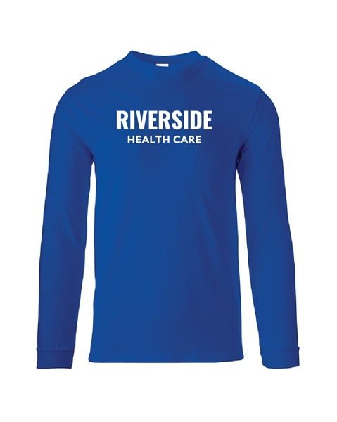 Picture of Riverside Health Care (Text Logo) Long Sleeve Tee