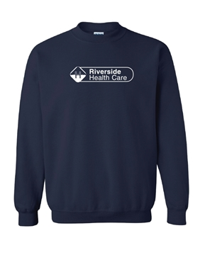 Picture of Riverside Health Care Crew Neck Sweater (Navy - One Colour Logo)